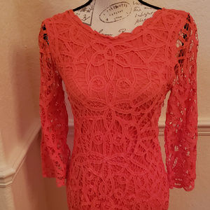 Orange Crochet Dress by I.N.C.